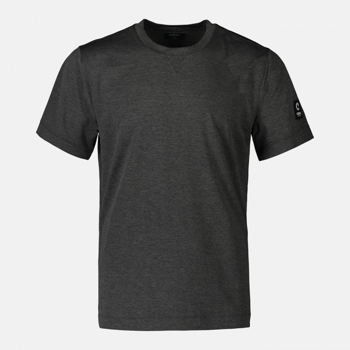 T-shirt grå i återvunnen polyester